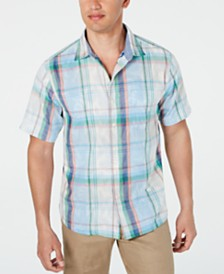 Tommy Bahama Men's Plaid Fronds Shirt