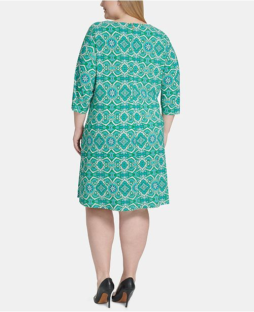 a6f76ccc4c6 Tommy Hilfiger Plus Size Mandala-Print Dress & Reviews - Dresses ...