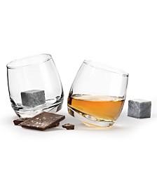 Sagaform Rocking Tumbler Glasses with Drink Stone Set