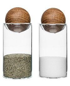 Sagaform Salt and Pepper Shakers with Oak Stoppers