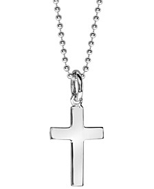 Boyz Will Be Boyz Children's Stainless Steel Cross Pendant Necklace