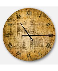 Designart Oversized Rustic Round Metal Wall Clock