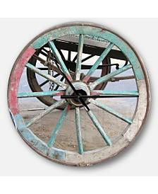 Designart Oversized Farmhouse Round Metal Wall Clock