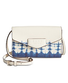 DKNY Sullivan Leather Tie-Dyed Crossbody Wallet