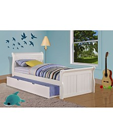 Twin Sleigh Bed with Trundle Bed