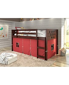 Twin Circles Low Loft Bed with Tent