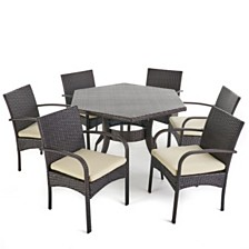 Calder Outdoor 7pc Dining Set, Quick Ship