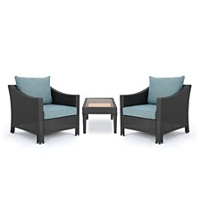 Antibes Outdoor 3-Pc. Seating Set, Quick Ship