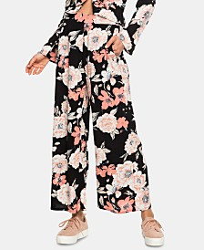Roxy Juniors' Floral Print Wrap Front Pants