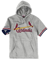 new concept 01ea6 ca561 Mitchell   Ness Men s St. Louis Cardinals French Terry Short Sleeve Hoodie