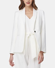 Tahari ASL Peak-Lapel Single-Button Blazer