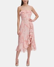 Tommy Hilfiger Paisley Chiffon Ruffle Dress