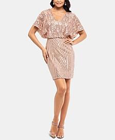 Petite Cold-Shoulder Blouson Dress