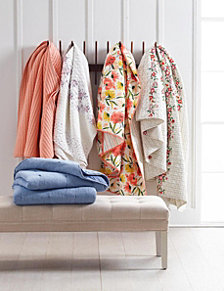 Martha Stewart Collection Sunset Quilt Collection, Created for Macy's