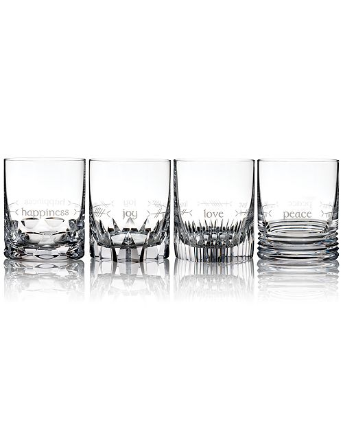 Waterford Ogham Double Old-Fashioned Glasses, Set of 4