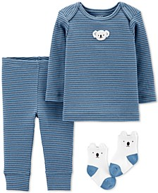 Baby Boys 3-Pc. Koala Top, Pants & Socks Set