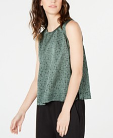 Eileen Fisher Organic Printed Top, Regular & Petite