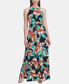 6fff2bb96 Tommy Hilfiger Floral Print Twill Maxi Dress