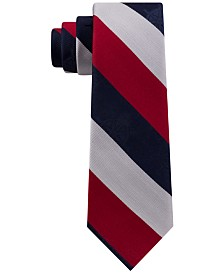 Tommy Hilfiger Men's Stripe Slim Tie, Created for Macy's