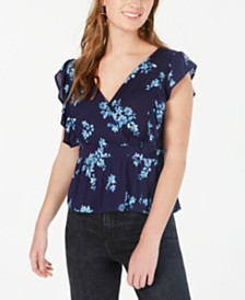 Gypsies & Moondust Juniors' Flutter-Sleeve Top