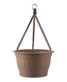 "Colonnade Wood Resin 12"" Hanging Basket"