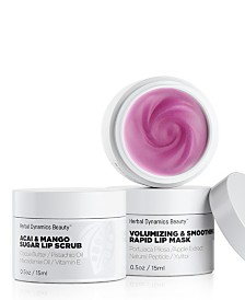 Herbal Dynamics Beauty Volumizing Lip Scrub and Mask Duo