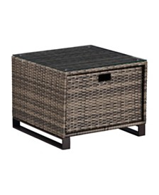 Tommy Hilfiger Oceanside Outdoor Side Table with Storage, Quick Ship