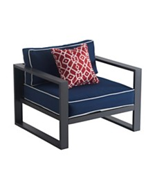 Tommy Hilfiger Monterey Outdoor Arm Chair, Quick Ship