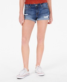 Celebrity Pink Juniors' Ripped Denim Shorts