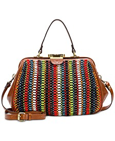 Patricia Nash Bead Gracchi Leather Frame Satchel