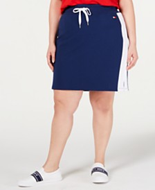 Tommy Hilfiger Plus-Size Colorblocked Pencil Skirt