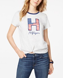 Tommy Hilfiger Front Knot Logo Top