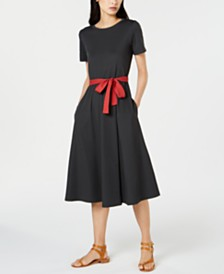 Weekend Max Mara Contrast-Bow A-Line Dress