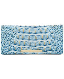 Brahmin Ady Melbourne Croc Embossed Leather Wallet