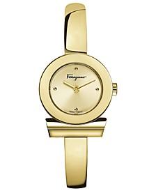 Women's Swiss Gancino Gold-Tone Stainless Steel Bracelet Watch 22mm