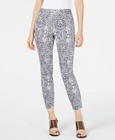I.N.C. Animal-Print Skinny Jeans, Created for Macy's
