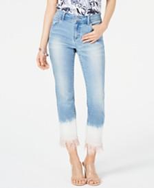 I.N.C. Tie-Dye Mop-Hem Straight-Leg Jeans, Created for Macy's