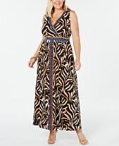 e540ba50828c I.N.C. Plus Size Surplice Tiger-Print Maxi Dress, Created for Macy's