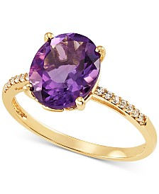 Amethyst (2-1/3 ct. t.w.) & White Topaz Accent Ring in 14k Gold
