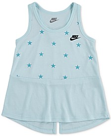 Little Girls Stars Split-Hem Tank Top