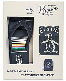 Penguin Men's Flip Flops & Cinch Bag Set, Created for Macy's
