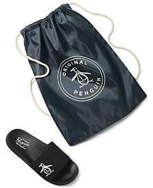 Penguin Men's Slides & Cinch Bag Set, Created for Macy's