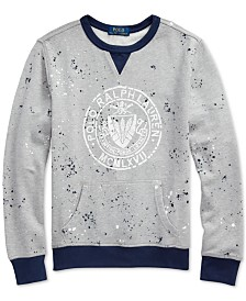 Polo Ralph Lauren Big Boys Twill Terry Graphic Sweatshirt
