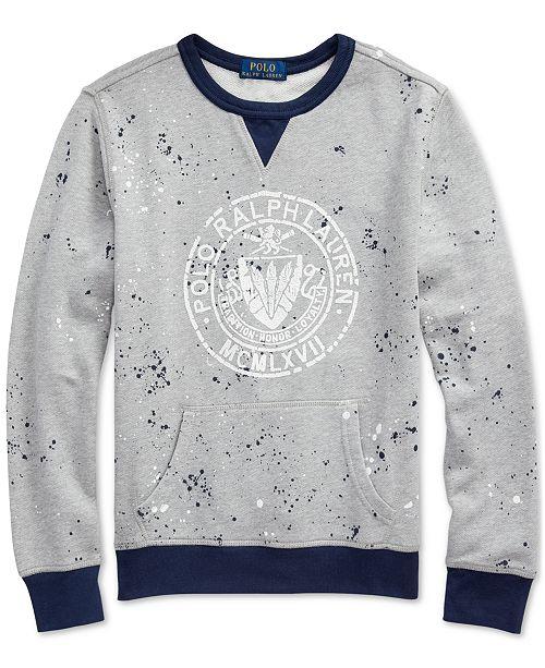 Polo Ralph Lauren Big Boys Twill Terry Graphic Sweatshirt