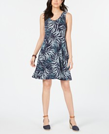 Style & Co Petite Strappy-Back Tank Dress, Created for Macy's