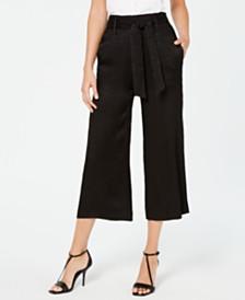 Calvin Klein Jacquard Cropped Wide-Leg Pants