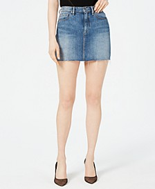 The Viper Cotton Denim Skirt
