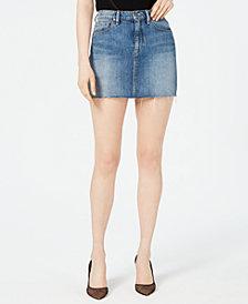 Hudson Jeans The Viper Cotton Denim Skirt