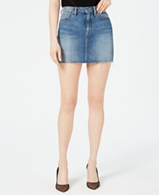 Hudson Jeans The Viper Cotton Denim Skirt