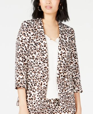 Leopard-Print Jacket, Created for Macy's